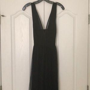 Black BCBG gown